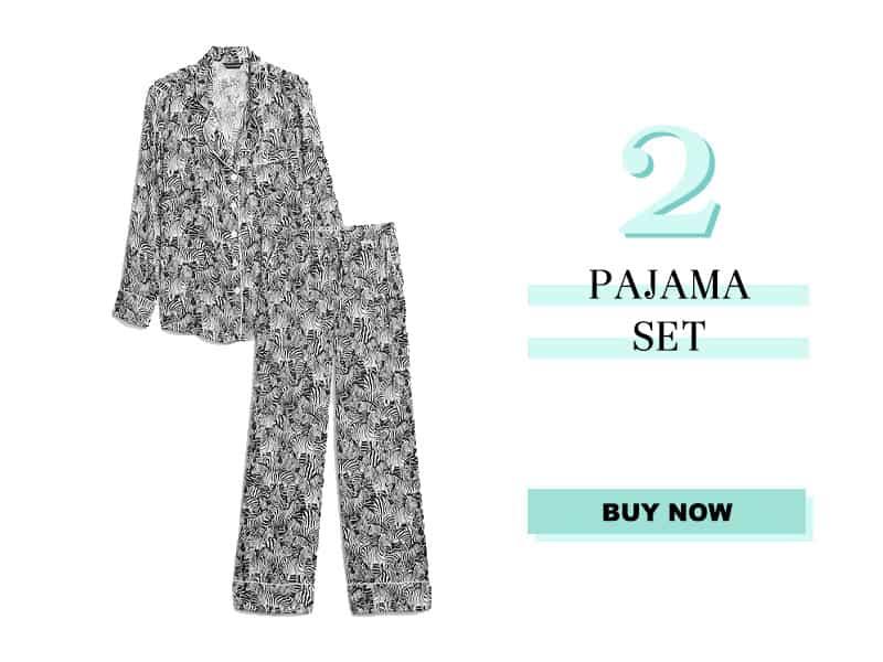 Banana Republic zebra satin pajama set