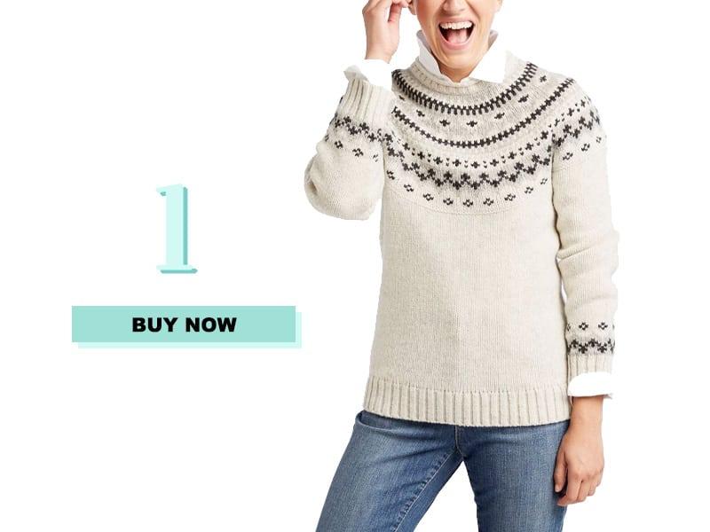 Fair Isle Sweater from LL Bean