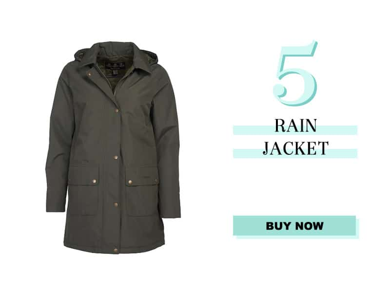 Barbour Rain Jacket in Olive