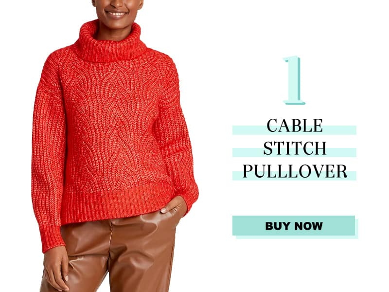 Red Cable Stitch Sweater from Target