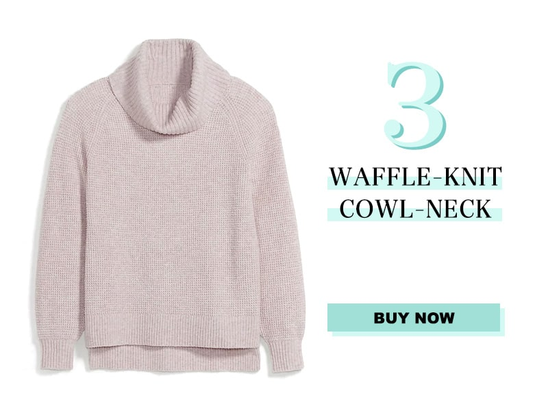 Waffle-Knit Cowl Neck sweater from Old Navy