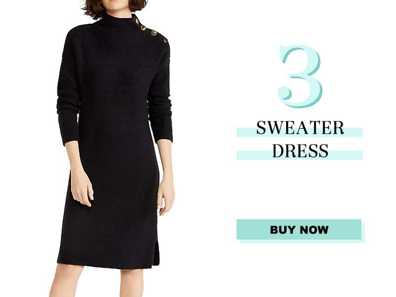 Ann Taylor Black Sweater Dress