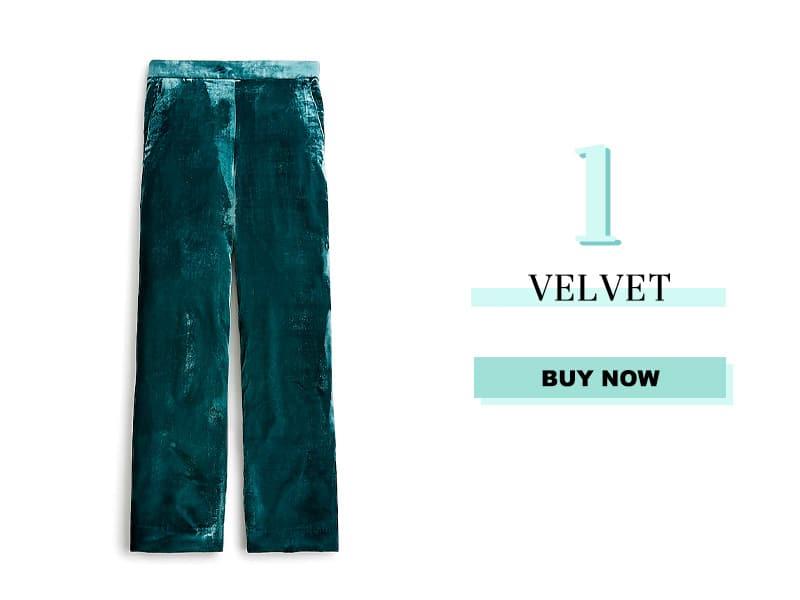 Green Velvet Pants from J. Crew
