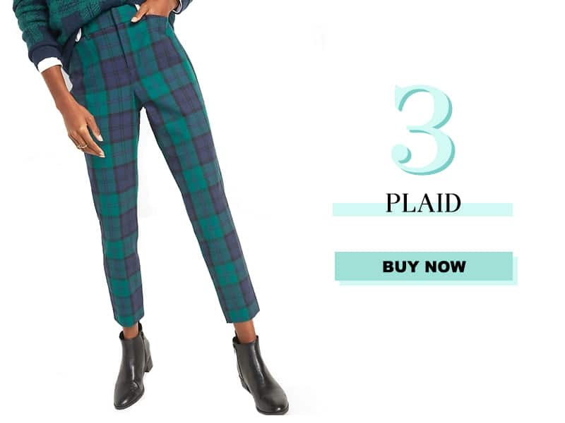 Green and Blue Plaid Pants from Old Navy