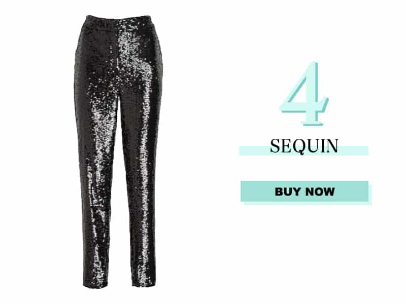 Black Sequin Pants from Express
