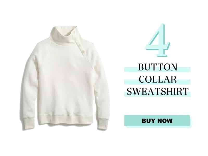 J.Crew Button Collar Sweatshirt