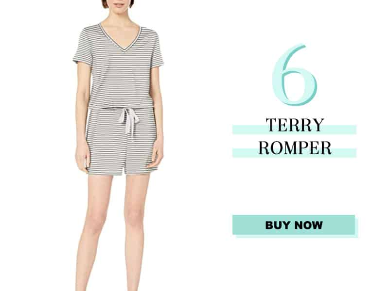 Striped Terry Romper from Amazon