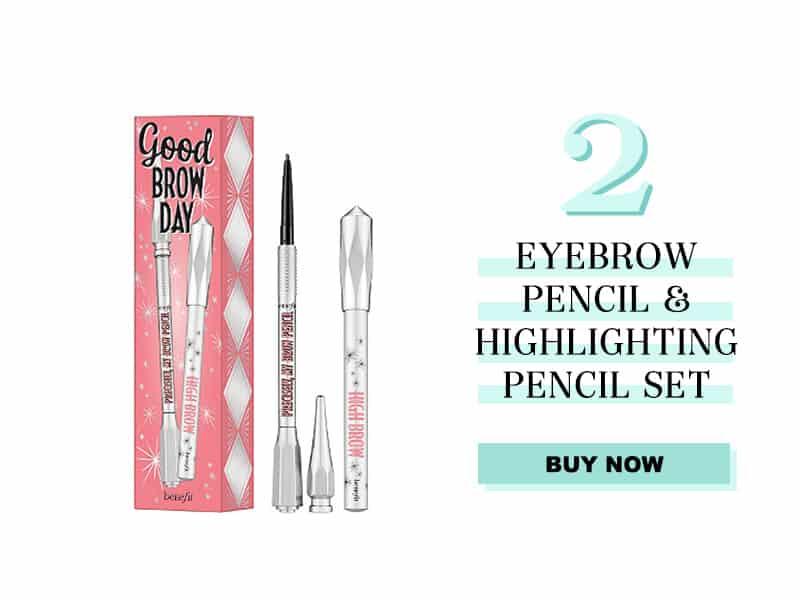 Eyebrow pencil and highlighting set
