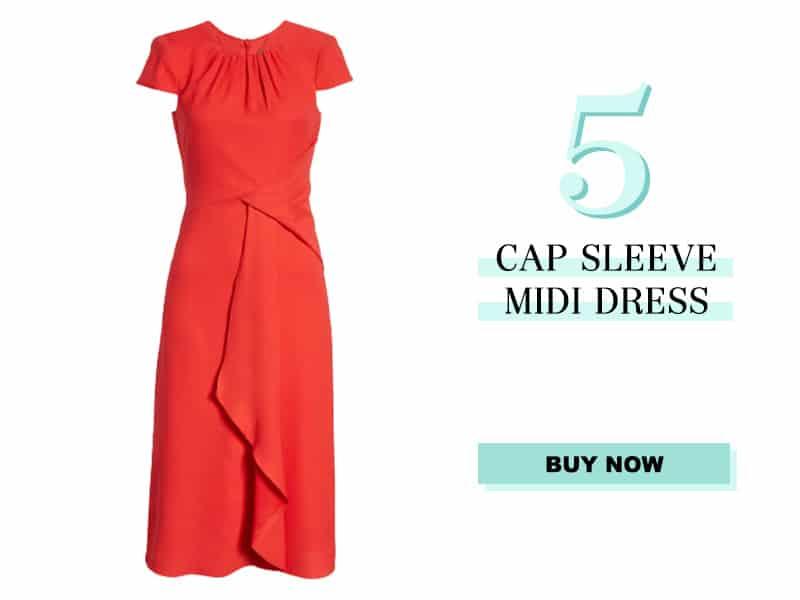 Nordstrom Cap Sleeve Midi Dress