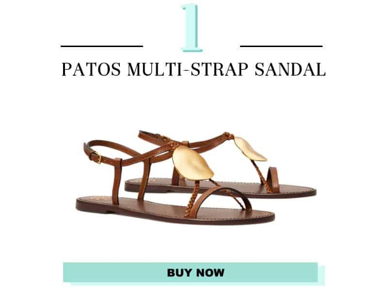 Tory Burch Patos Multi-strap sandal