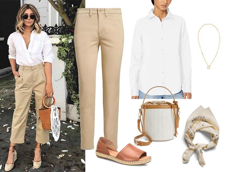 Pinterest Inspiration Classic Khakis with a Twist