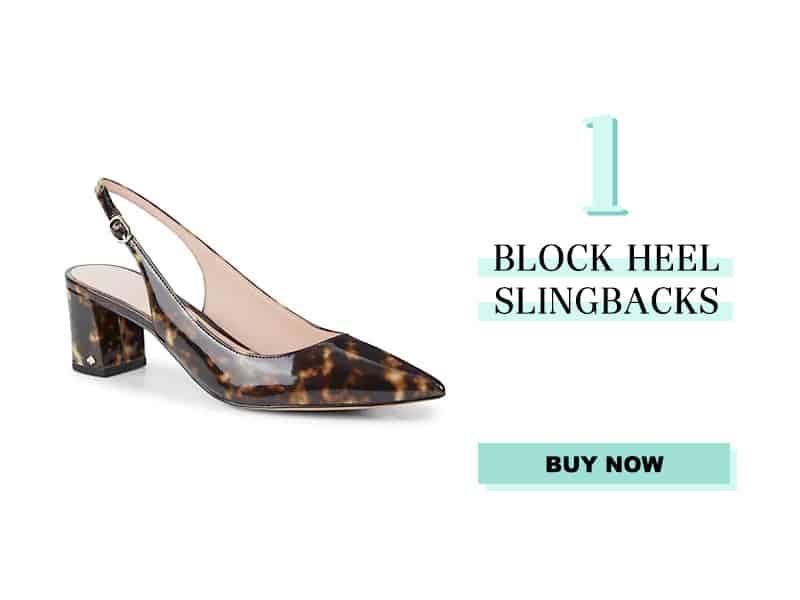 kate spade Block Heel Slingbacks