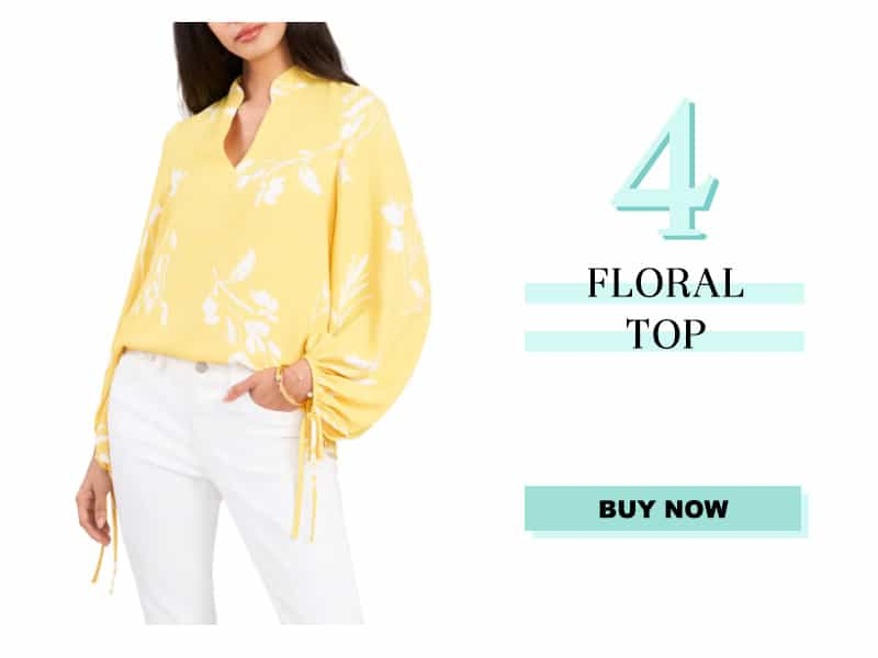 Vince camuto floral top