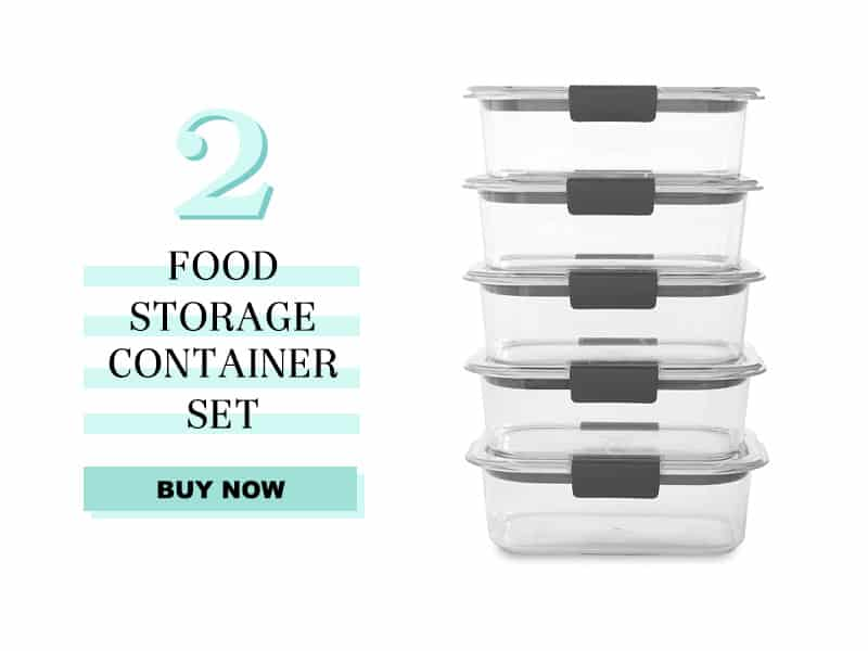 Rubbermaid Food Storage Container Set