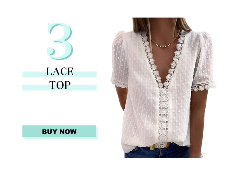 White Lace Top From Amazon