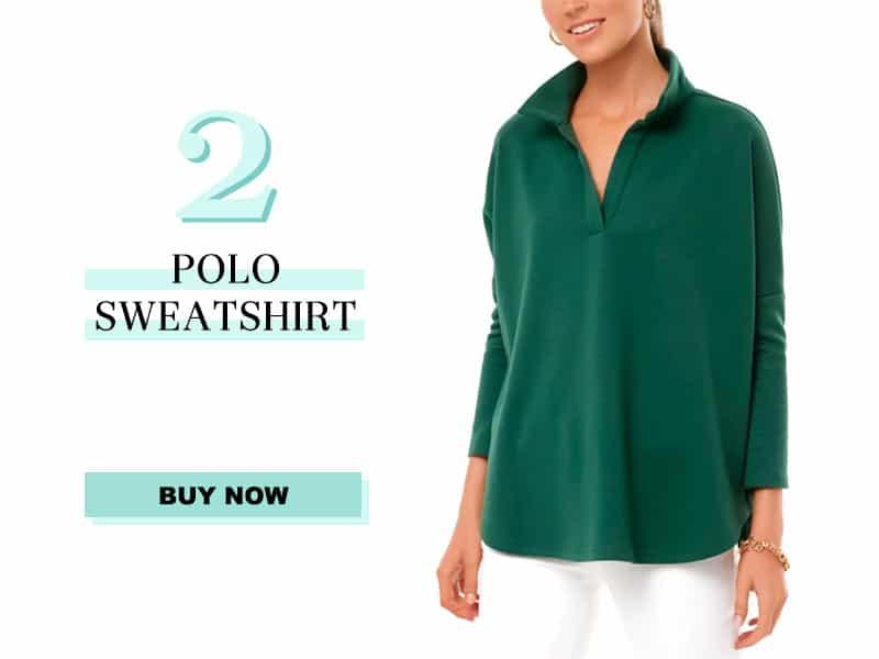 Green Polo Sweatshirt