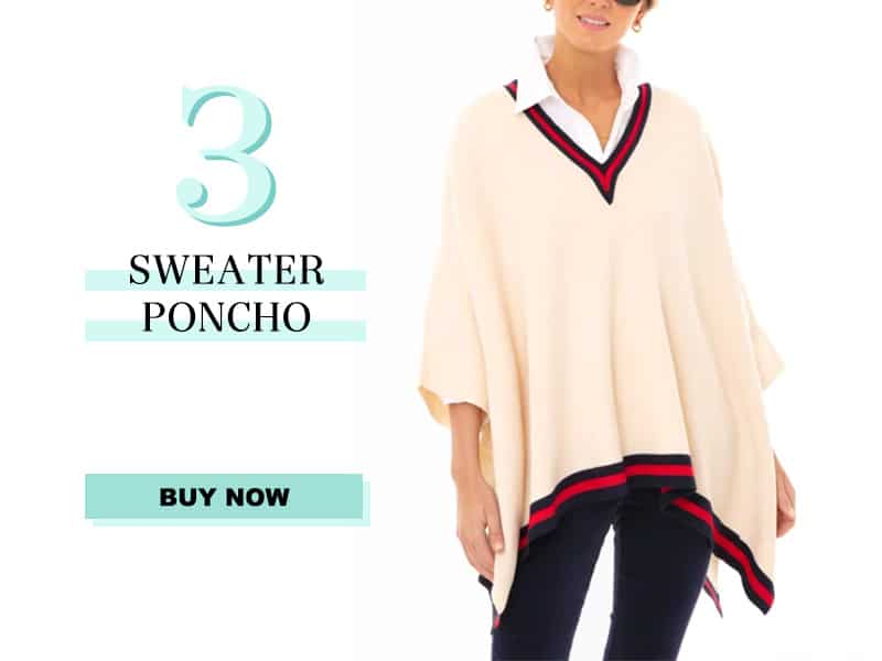 Cream Sweater Poncho