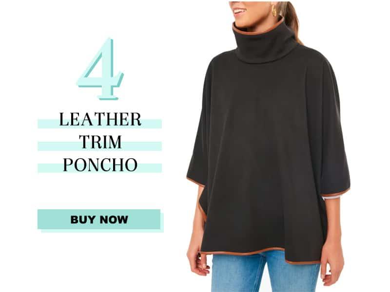 Black Leather Trim Polo
